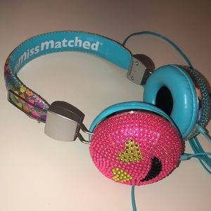 Other - Little Miss Matched diamond headphones